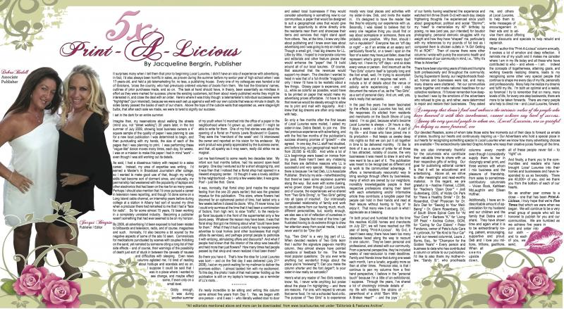 FEATURED EDITORIAL: 5x Print-A-Licious - Anniversary 2014