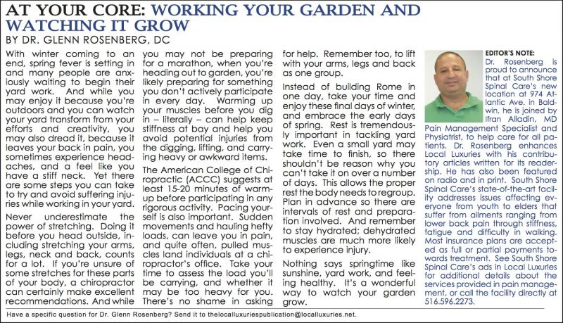 At Your Core: Working Your Garden And Watching It Grow - April 2014