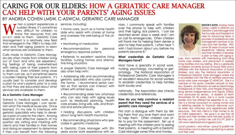 Caring For Your Elders: How A Geriatric Care Manager Can Help With ...