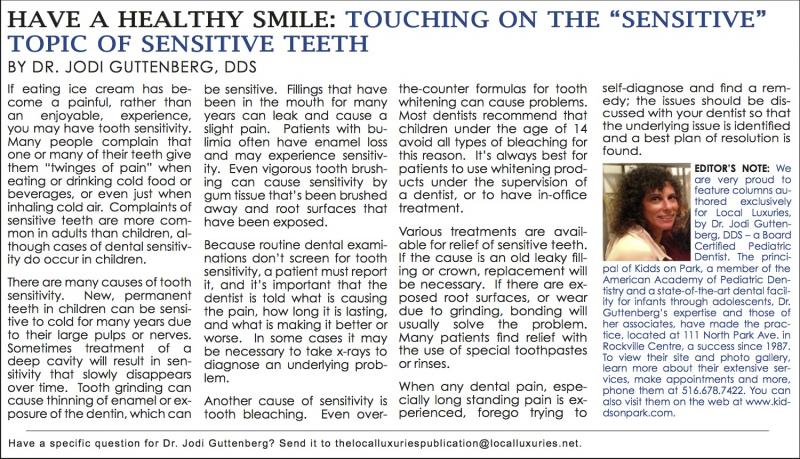 "... : Touching On The ""Sensitive"" Topic Of Sensitive Teeth - July 2014"